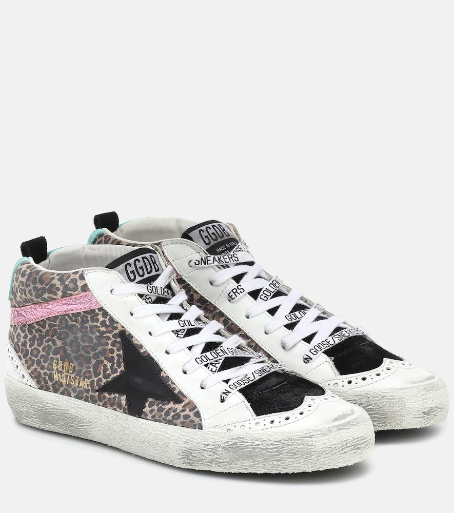 Mid Star leopard-print sneakers