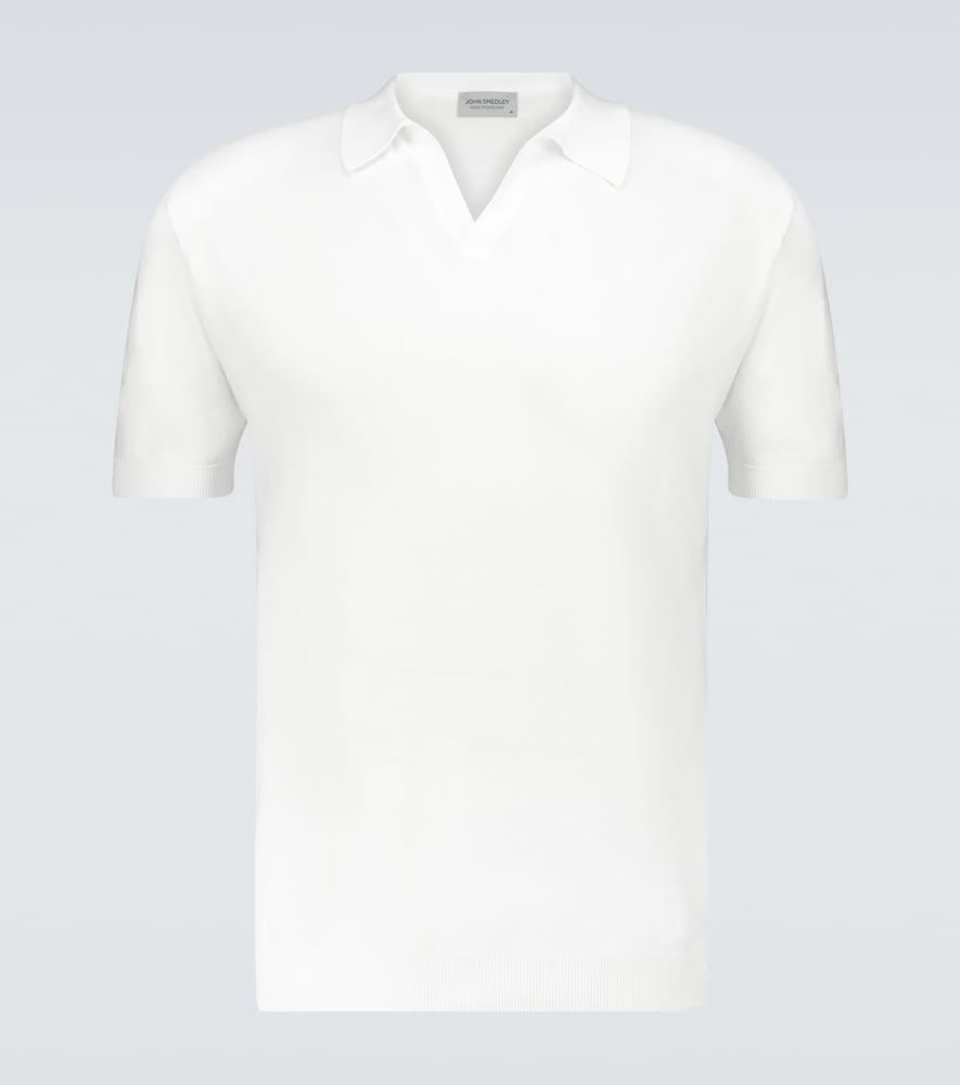 Noah knitted cotton polo shirt