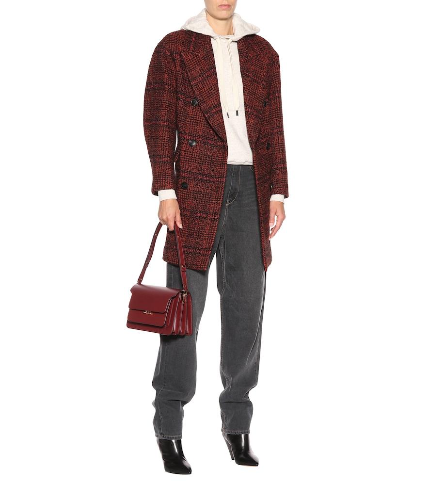 Ebra plaid wool-blend coat by Isabel Marant, Étoile