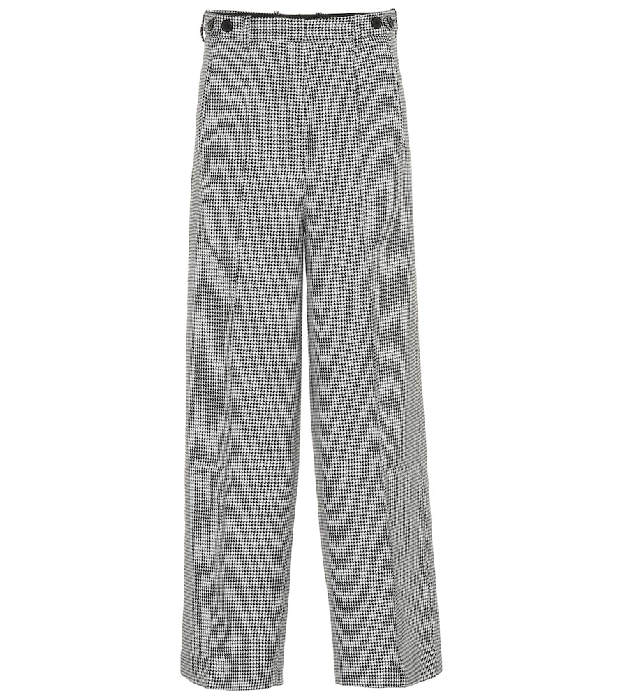 Pantalon ample à carreaux pied-de-poule