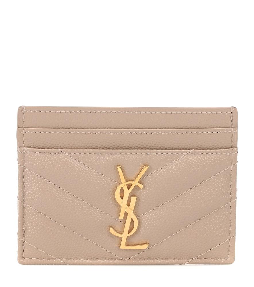 SAINT LAURENT | Monogram Leather Card Holder | Goxip