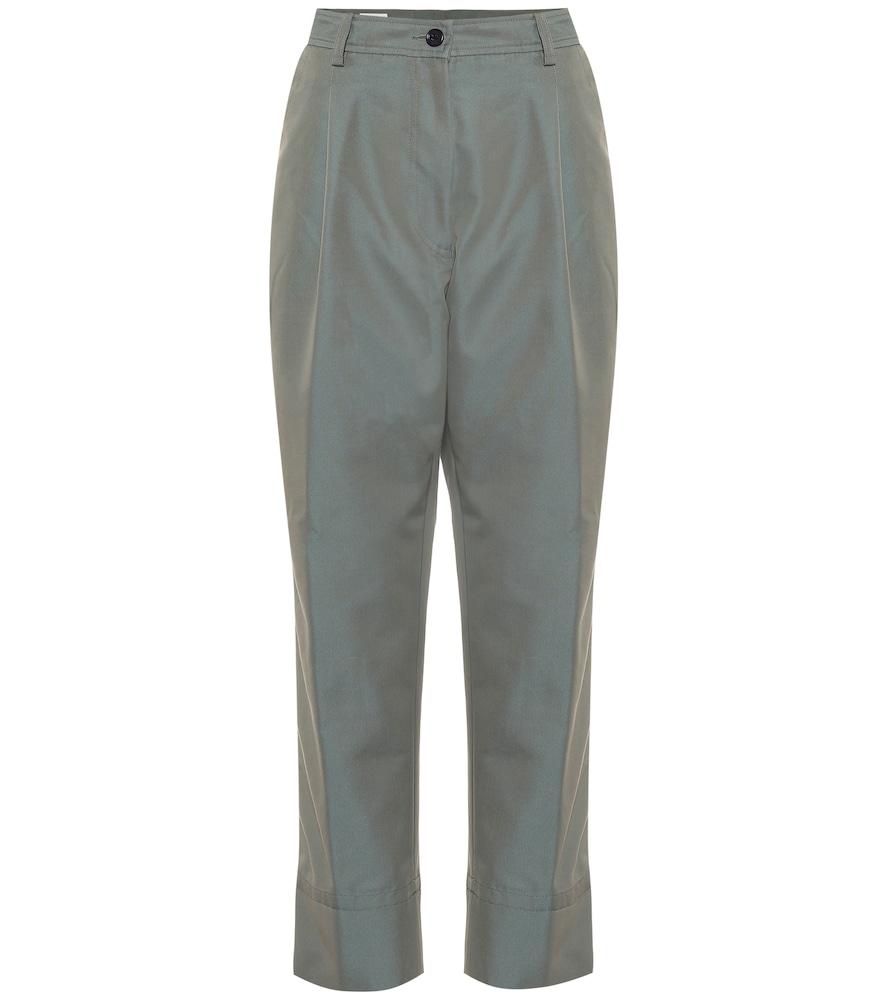 Pantalon en coton mélangé - Dries Van Noten - Modalova