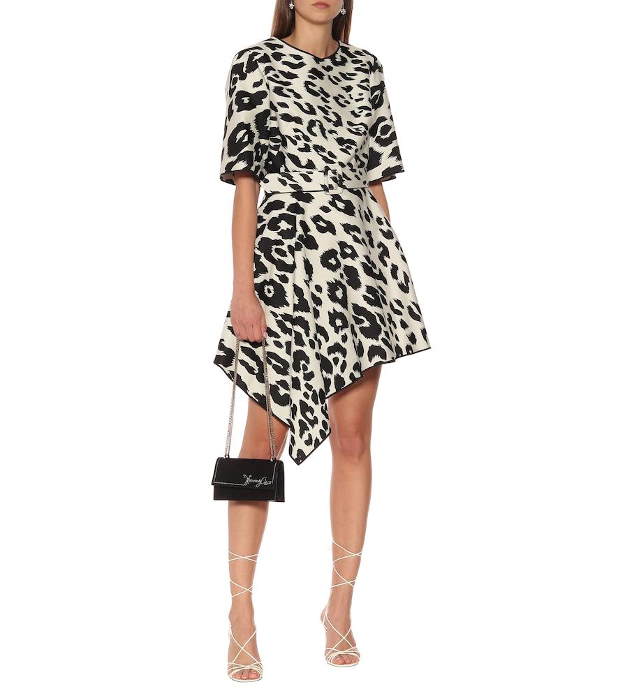 Leopard-print cotton and silk dress by Oscar de la Renta