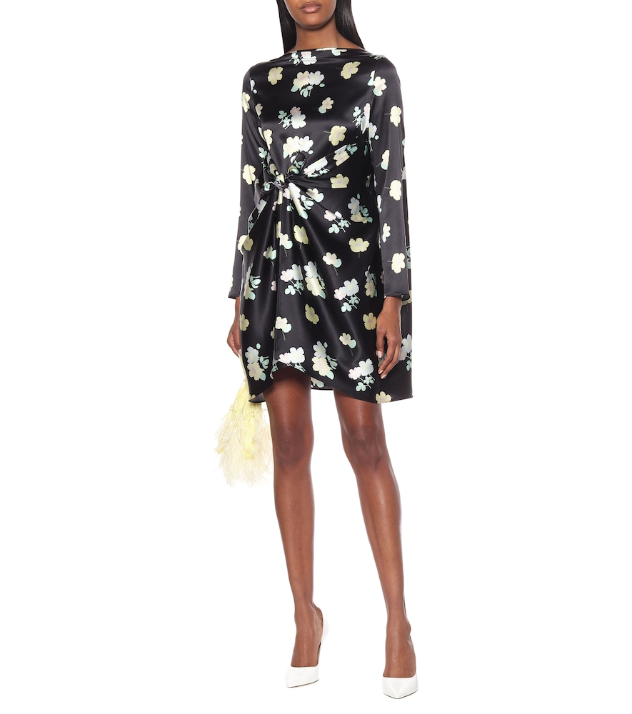 Judy floral stretch-silk minidress by Bernadette