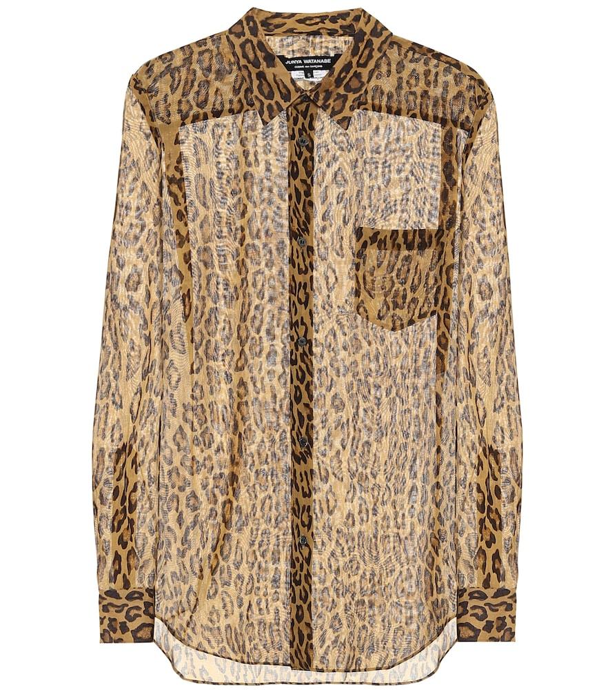 Junya Watanabe Leopard-print Voile Shirt In Leopard Print