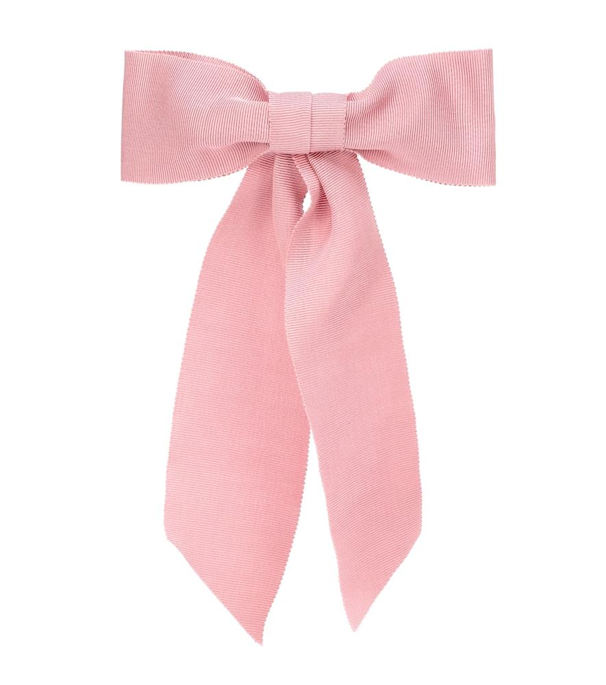 JENNIFER BEHR Grosgrain Bow Barrette in Pink