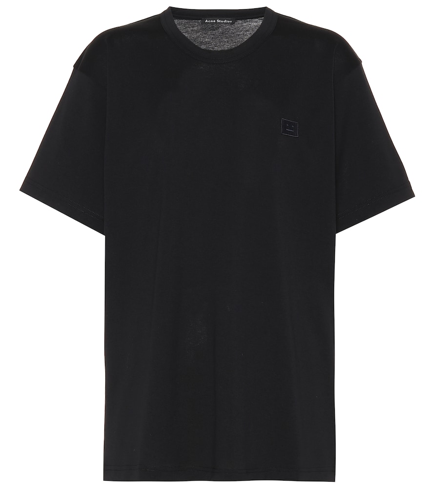 Nash Face Cotton-Jersey T-Shirt in Black