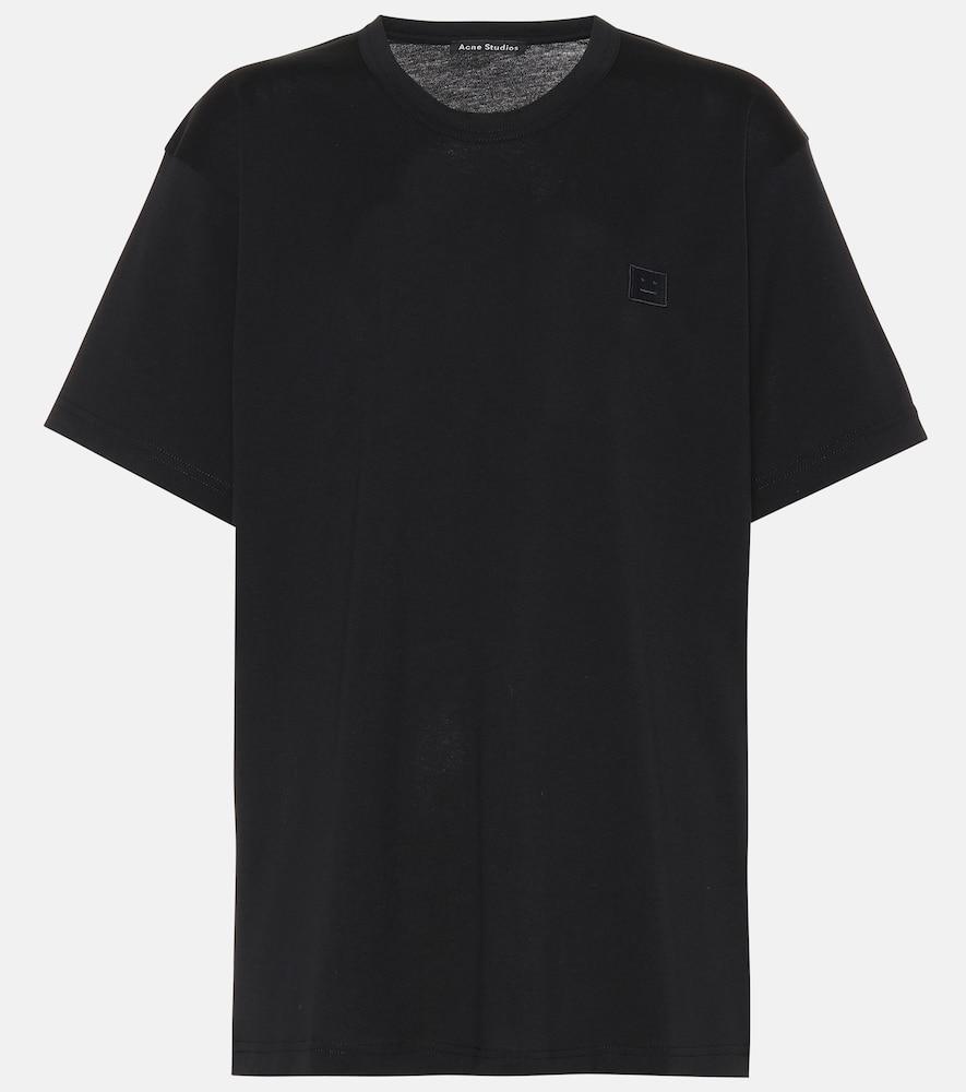 ACNE STUDIOS Nash Face Cotton-Jersey T-Shirt in Black