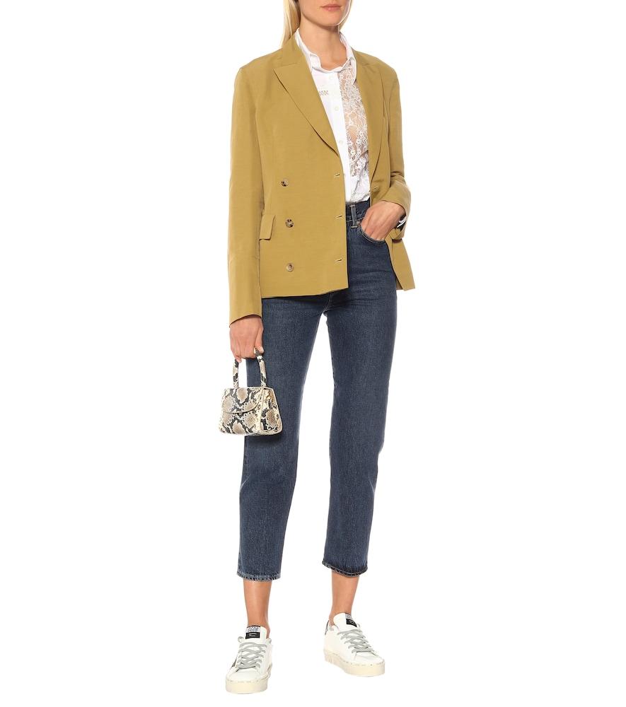 Angelica linen-blend blazer by Golden Goose