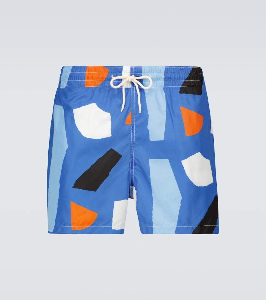 Blue Shapes x Julie Safirstein swim shorts