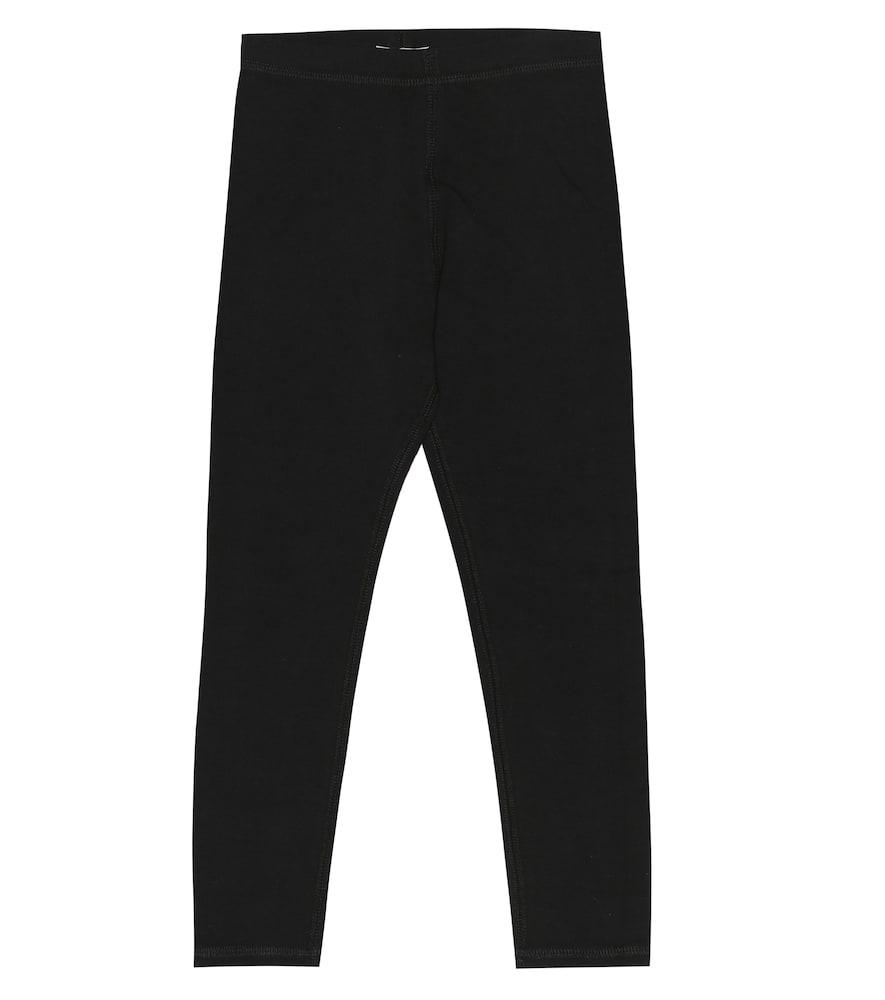 BURBERRY CHILDREN | Logo Stretch Cotton Leggings | Goxip
