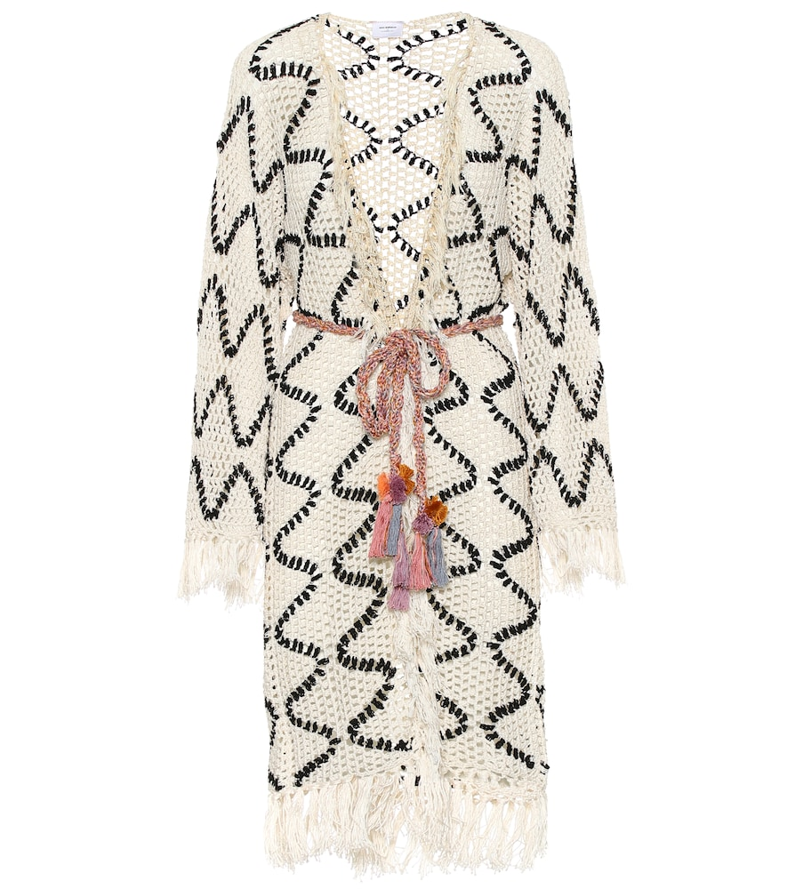 Cardigan Modernista en crochet de coton