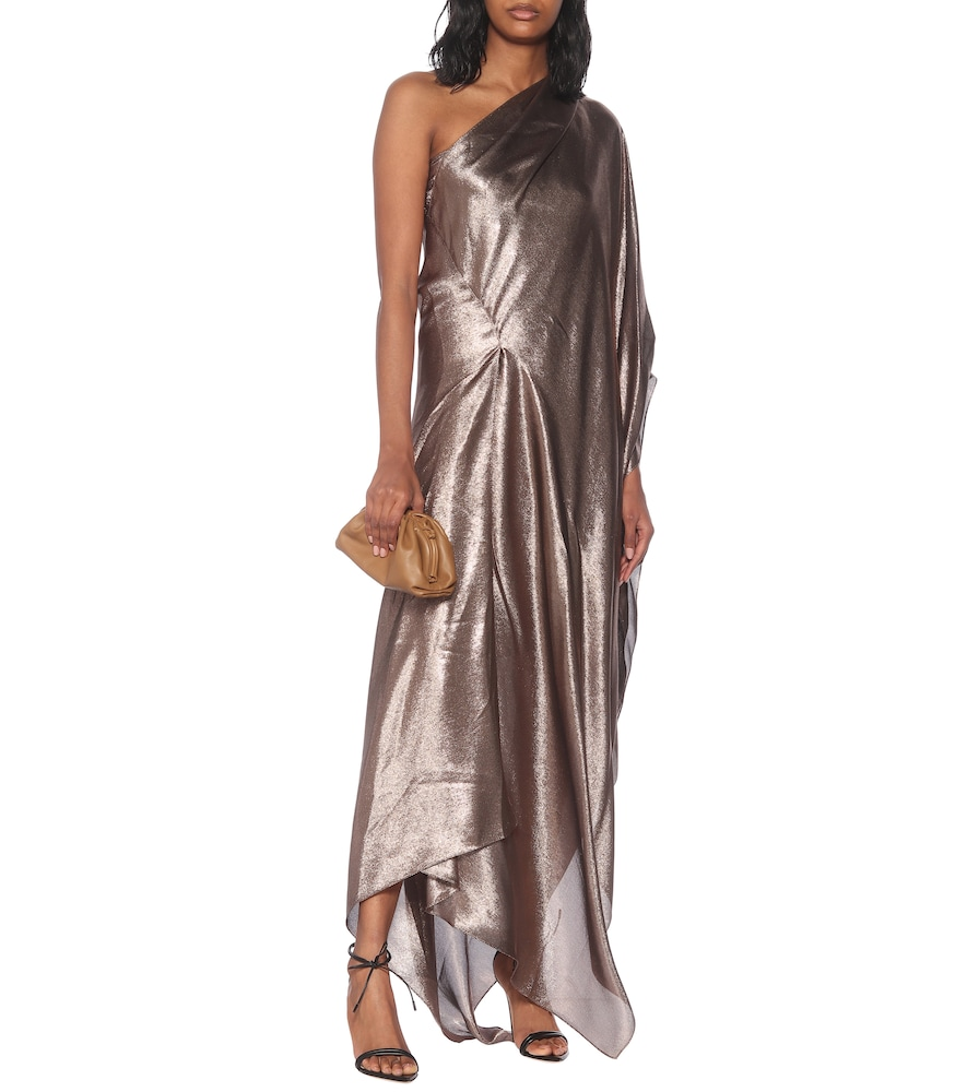 Exclusive to Mytheresa - Ritts one-shoulder silk-blend draped gown by Roland Mouret