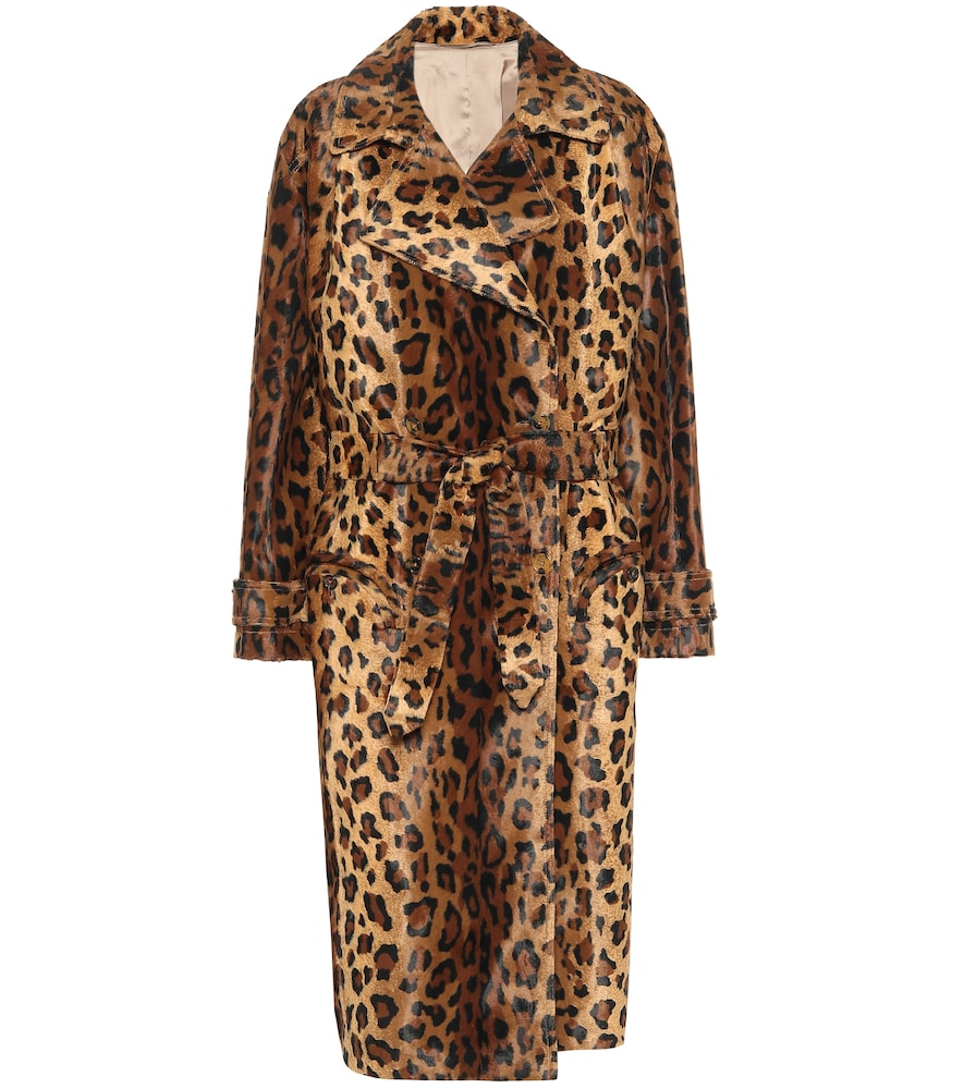 Blazé Milano Be Fear Wait Leopard-print Cotton-blend Coat In Brown