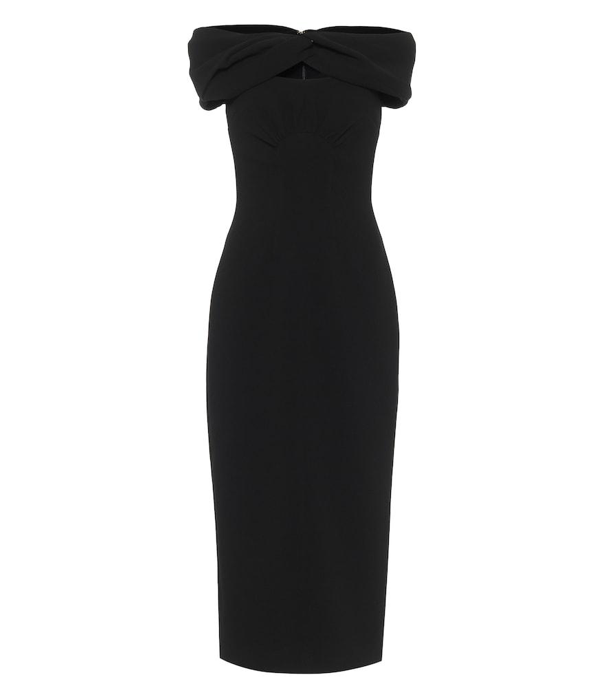 Padma off-shoulder crêpe midi dress
