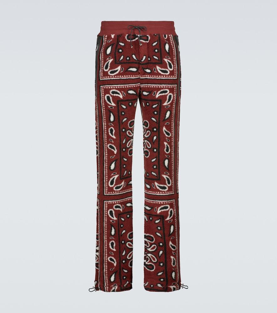Bandana printed fleece sweatpants