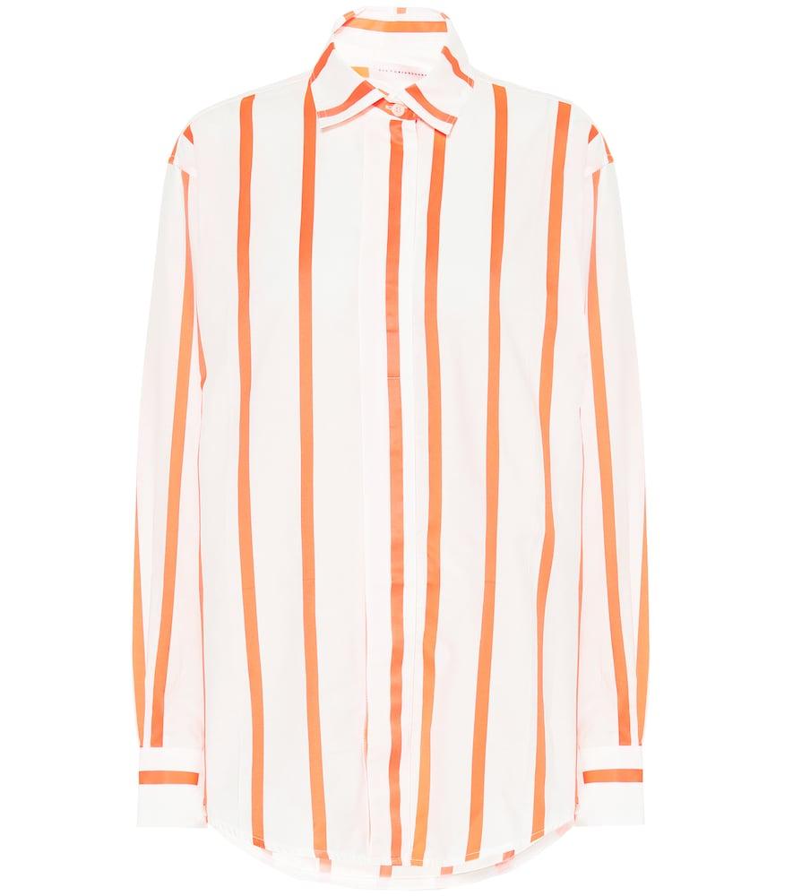Chemise en coton mélangé à rayures - Victoria Beckham - Modalova