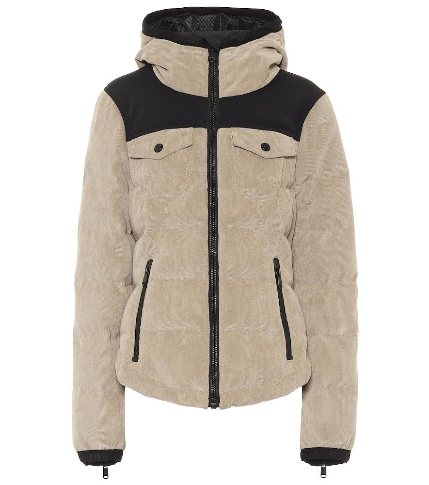 Auburn corduroy down ski jacket