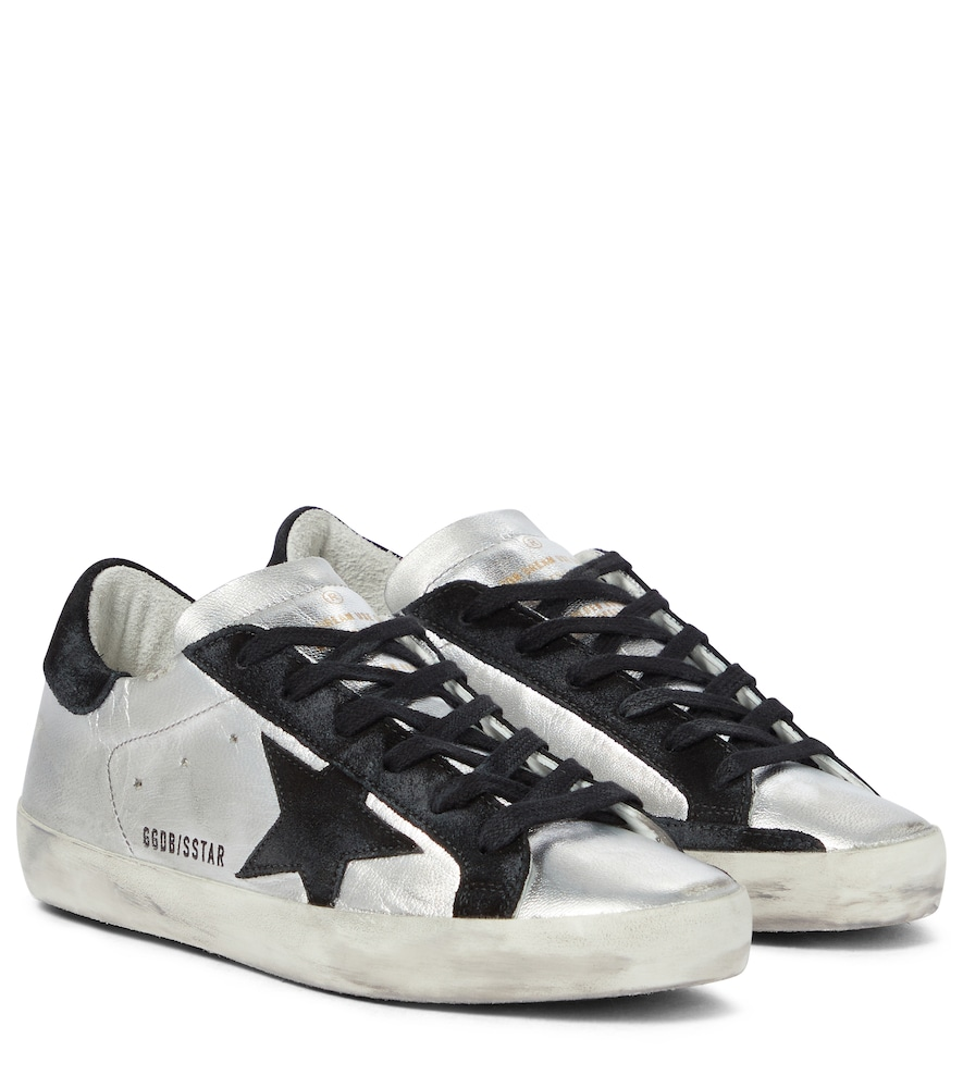 Superstar leather and suede sneakers