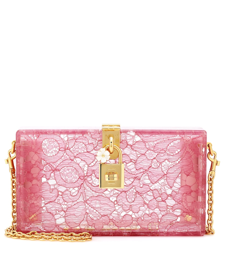DOLCE BOX LACE CLUTCH
