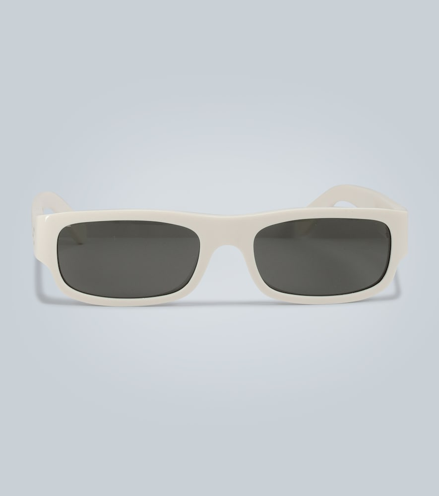 Rectangle frame acetate sunglasses