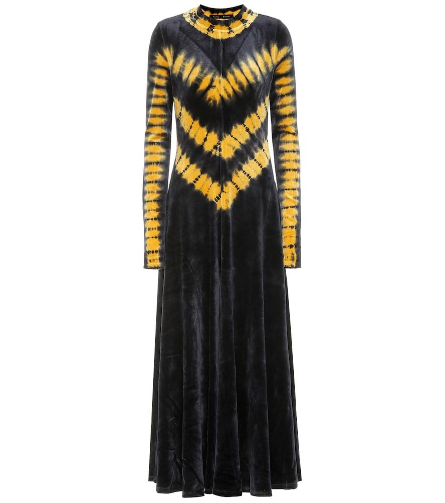 Robe longue en velours de coton mélangé