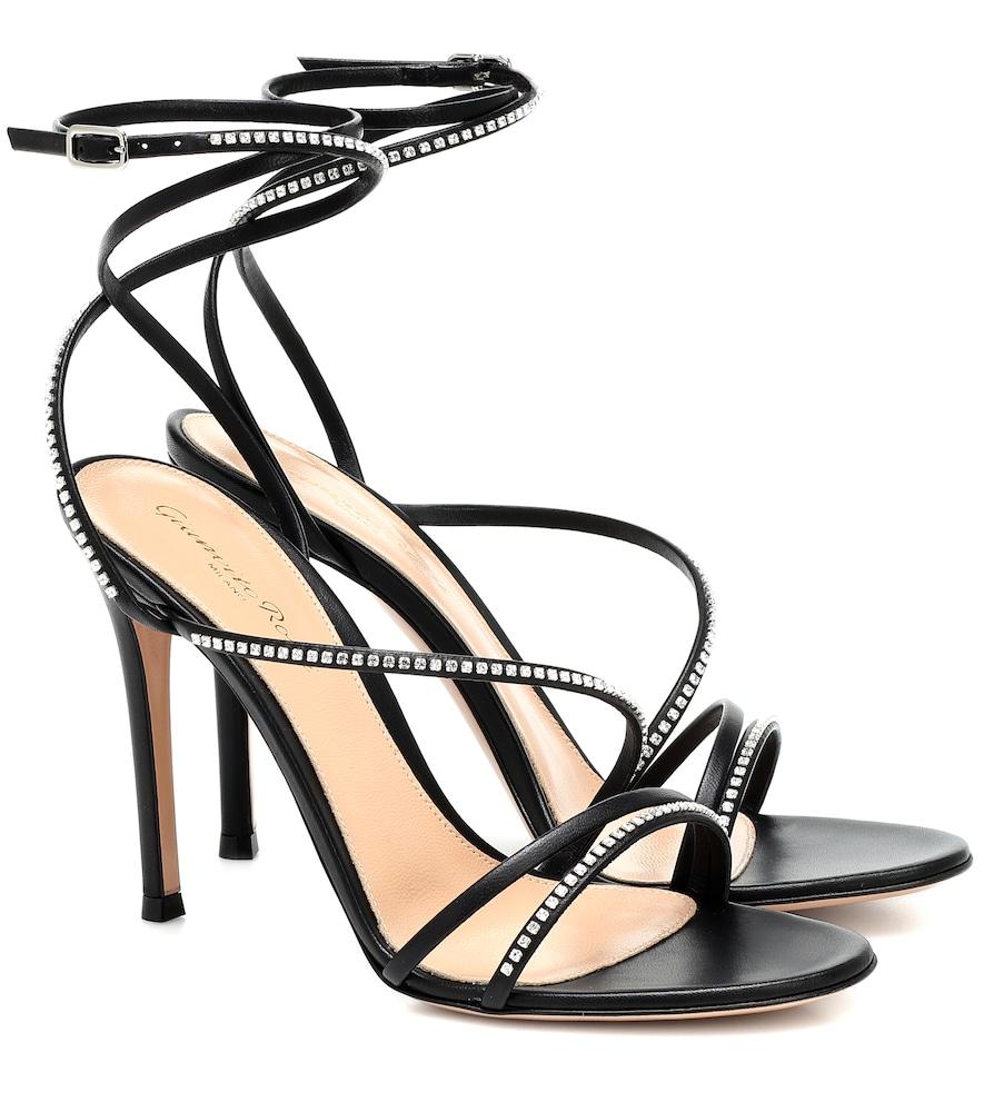 Sandales en cuir à ornements - Gianvito Rossi - Modalova