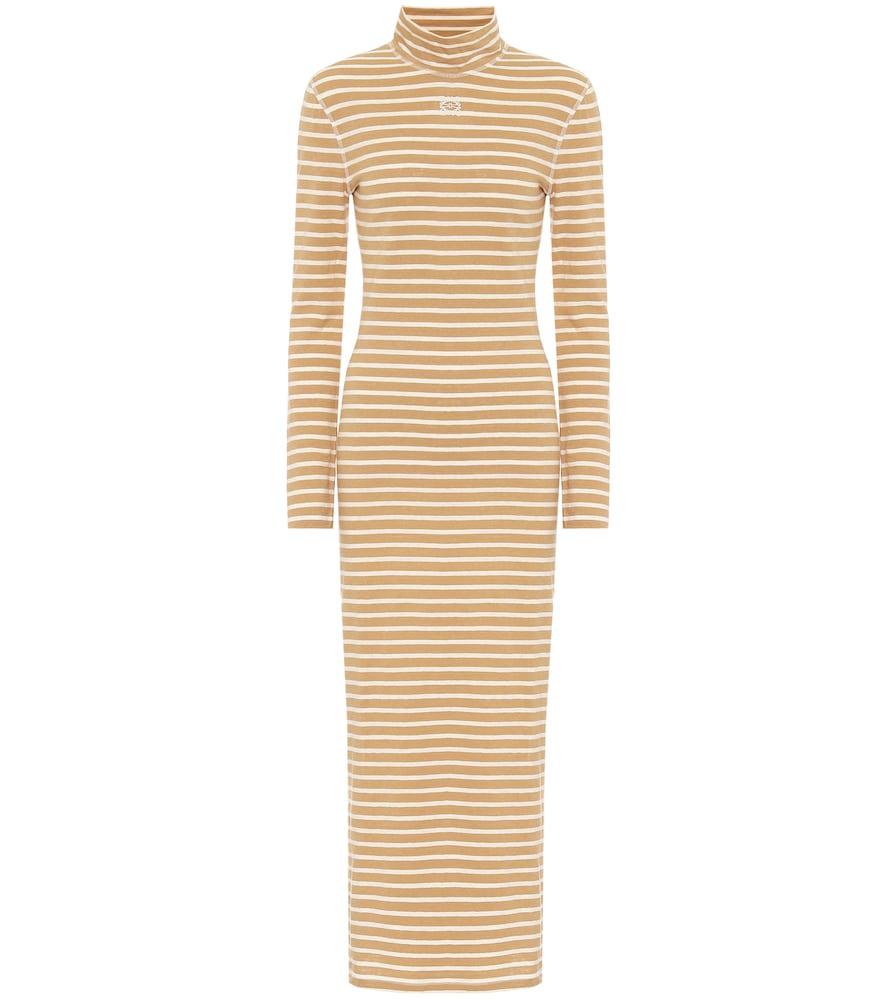 Robe longue rayée en coton - Loewe - Modalova