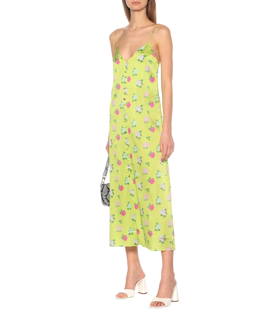 Hailey floral silk-satin slip dress by Bernadette