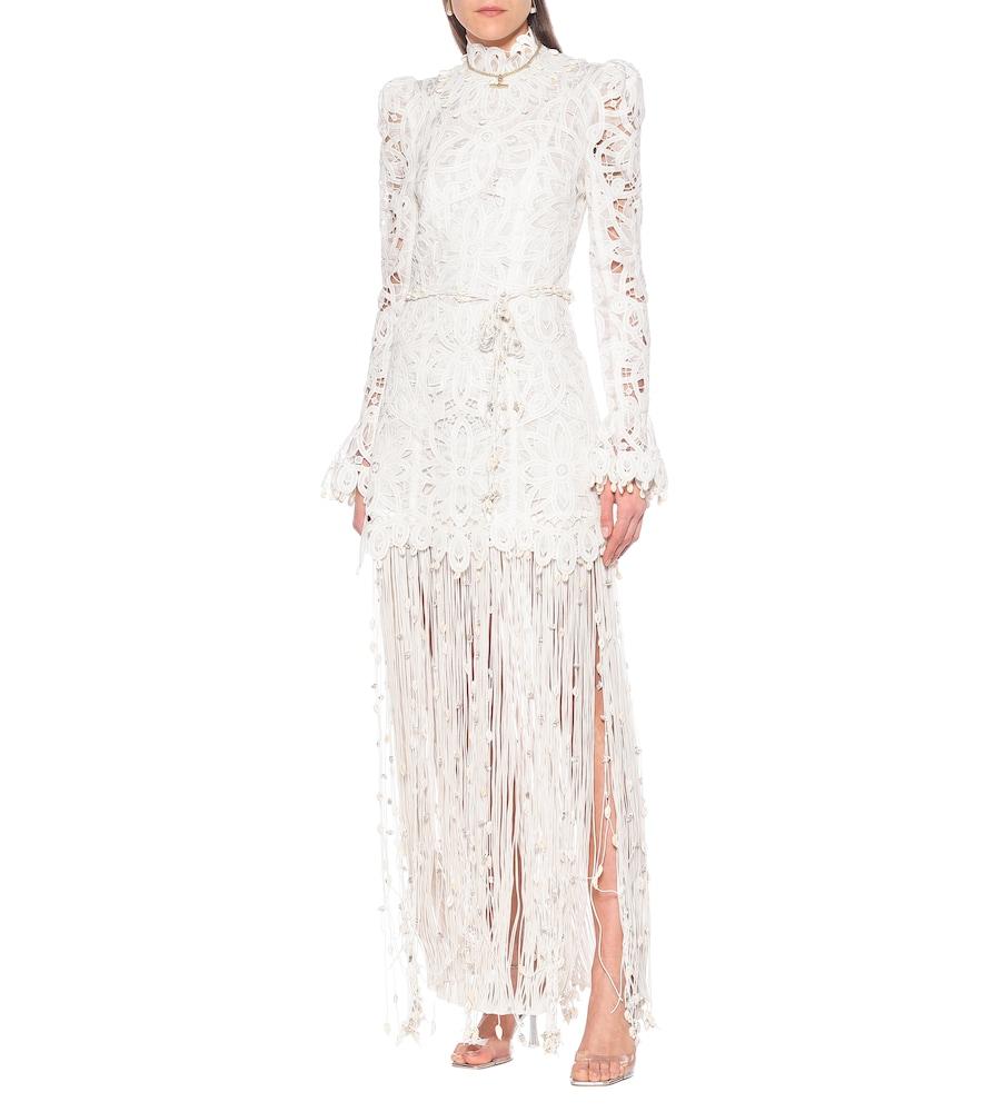Wavelength embroidered silk gown by Zimmermann