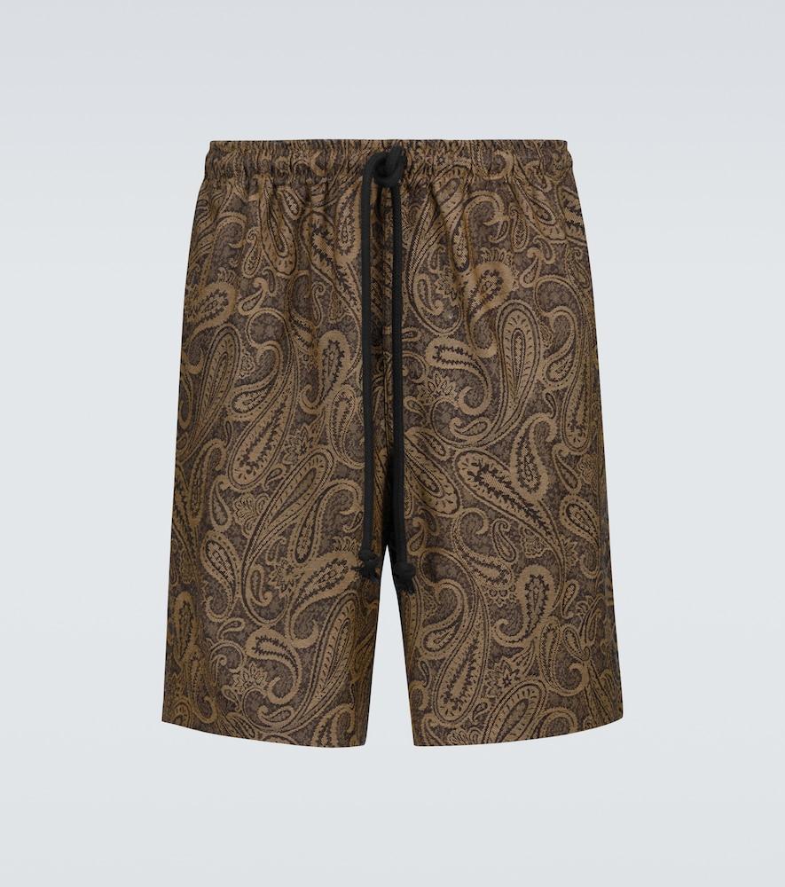 Walk printed wool shorts