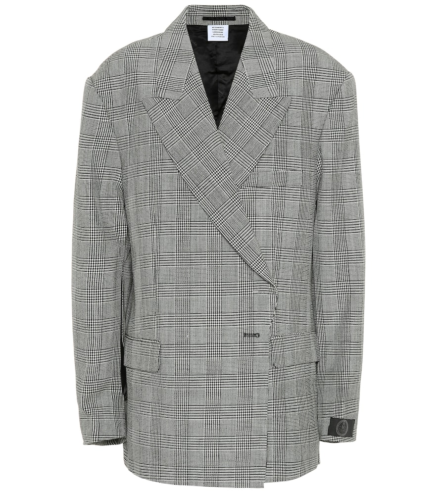 Blazer en laine à carreaux - Vetements - Modalova