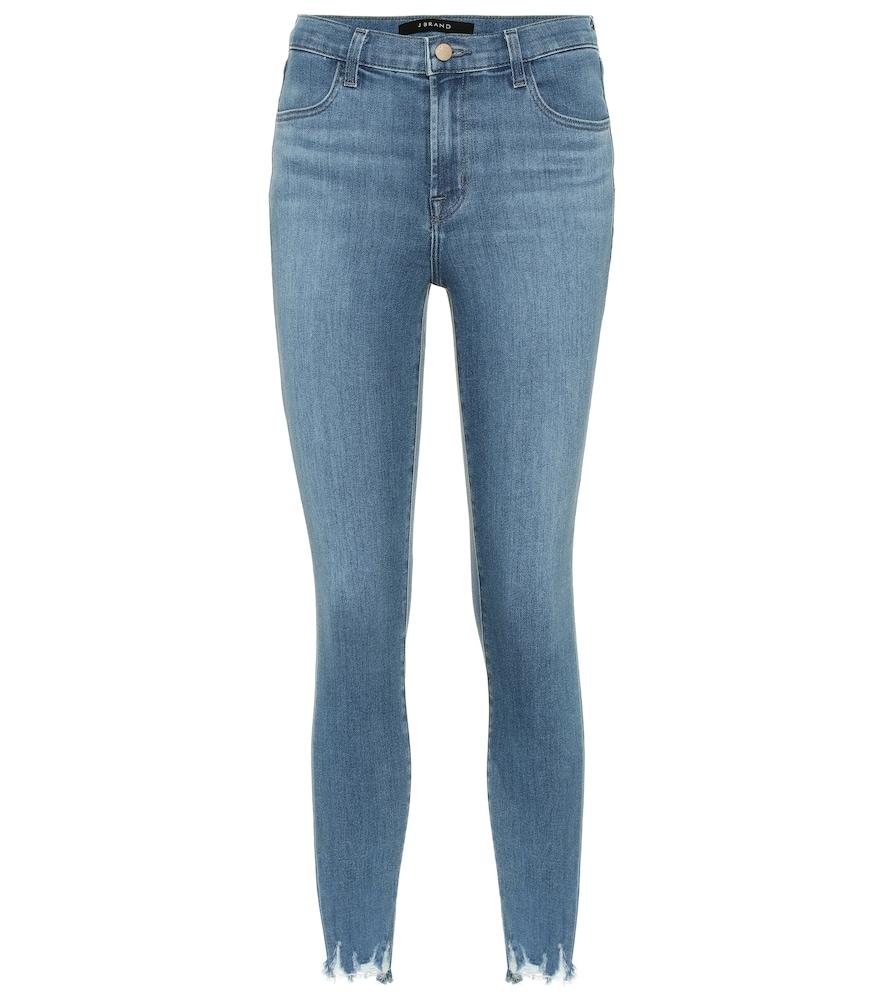 J BRAND   Alana Cropped High-Rise Skinny Jeans   Goxip