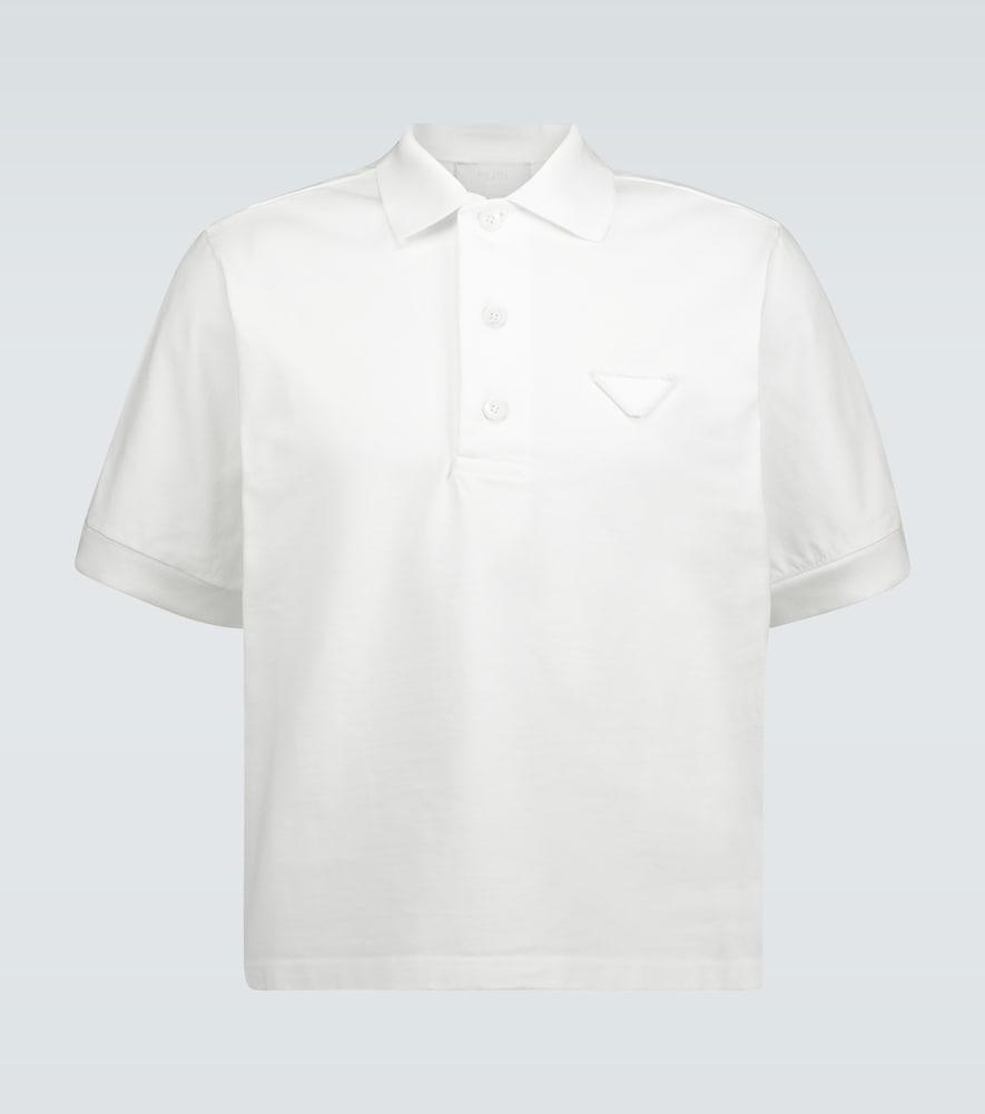 Polo en jersey à logo - Prada - Modalova