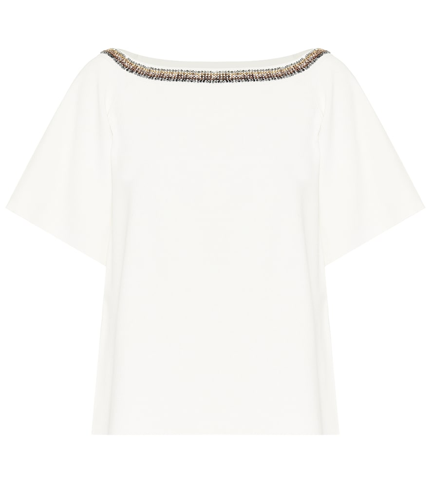 Stella McCartney Embroidered compact-knit top