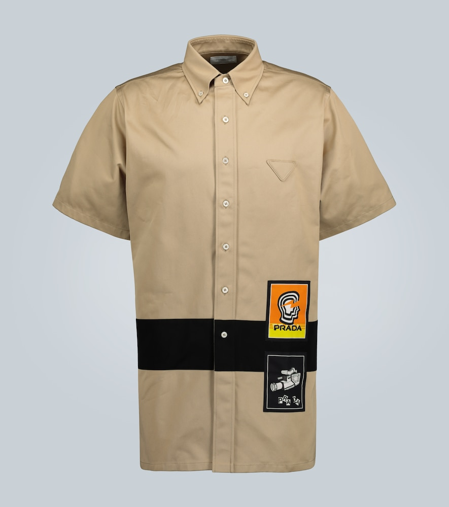 Chemise chino à manches courtes