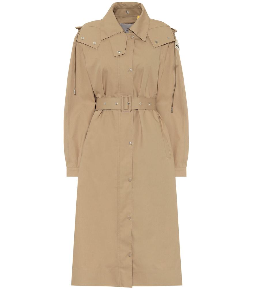 Trench-coat Silene à capuche en coton mélangé 4 MONCLER SIMONE ROCHA - Moncler Genius - Modalova