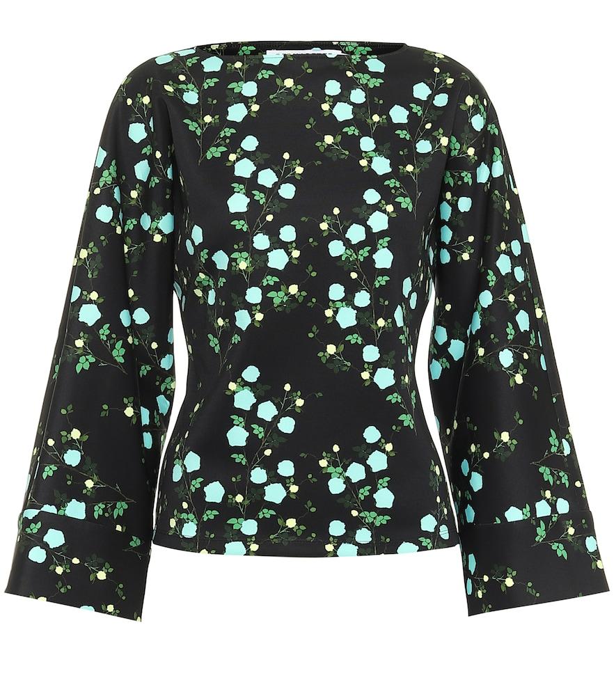 Gemma floral jersey top
