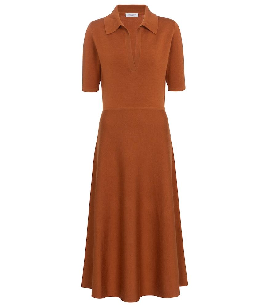 Bourgeois wool, cashmere and silk midi dress