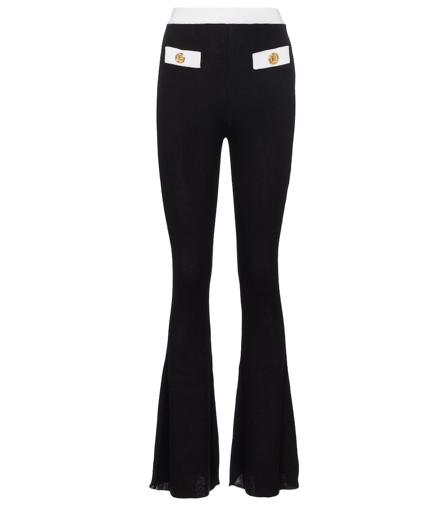 Balmain EMBELLISHED CASHMERE AND SILK PANTS