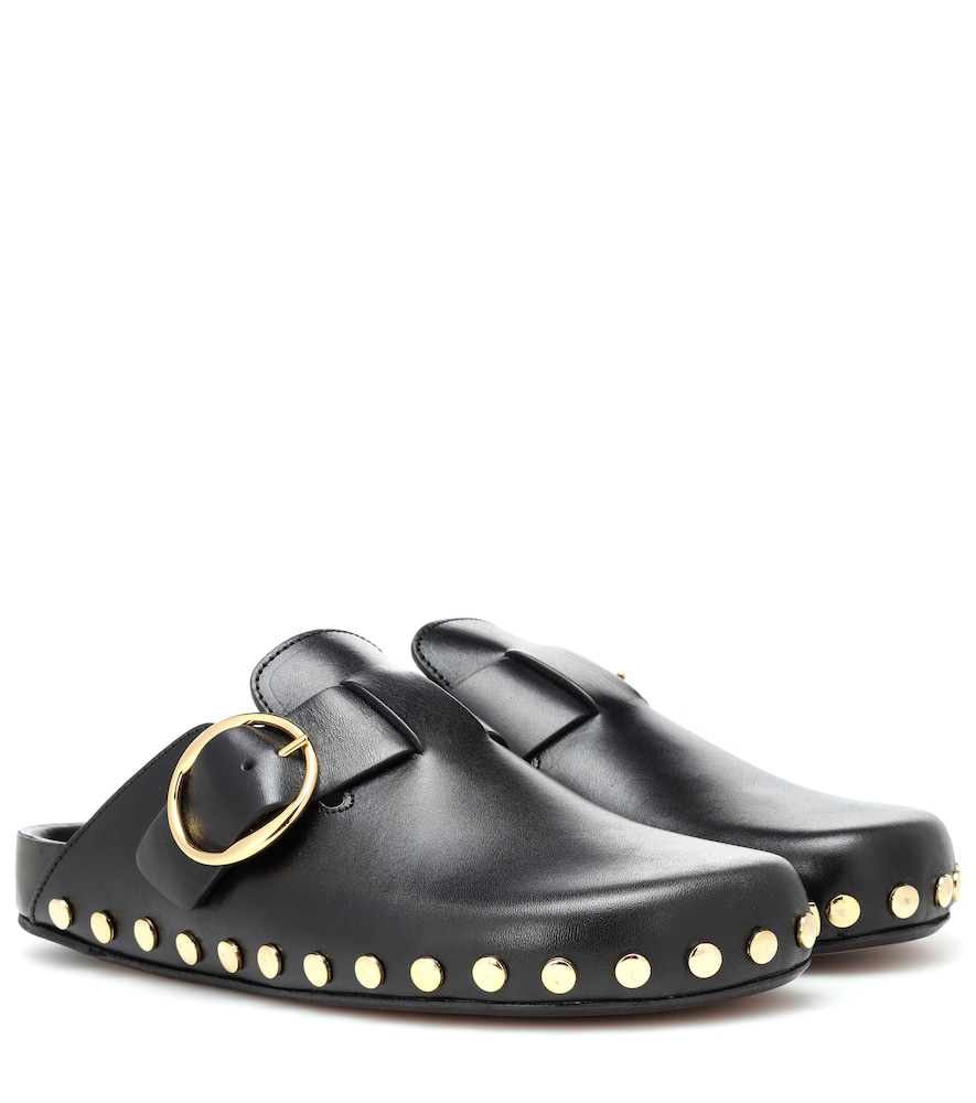 2052fd7833 ISABEL MARANT MIRVIN STUDDED LEATHER SLIPPERS | ModeSens