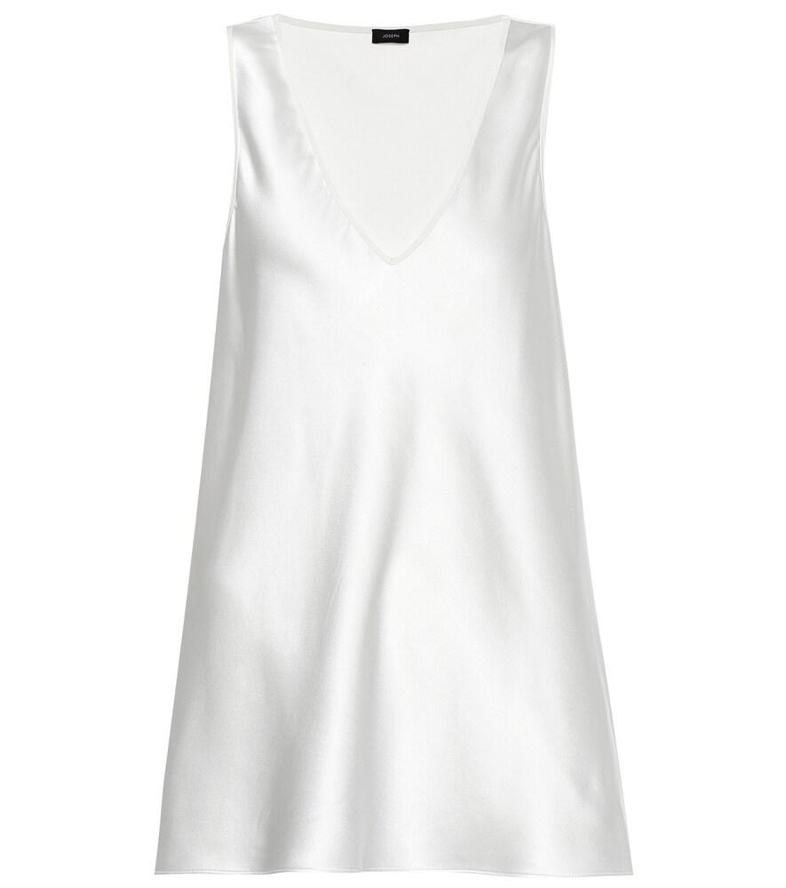 Joseph Meg Silk Satin Tank In White