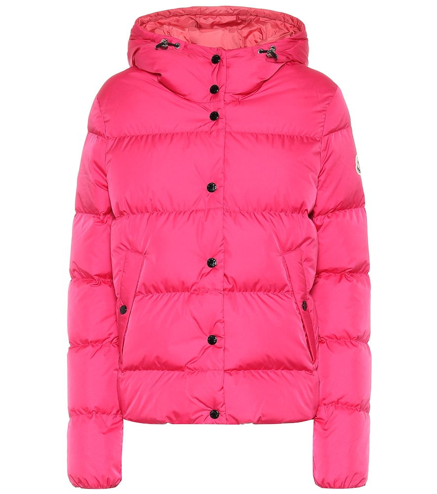 Moncler Lena Hooded Down Puffer Jacket In Pink
