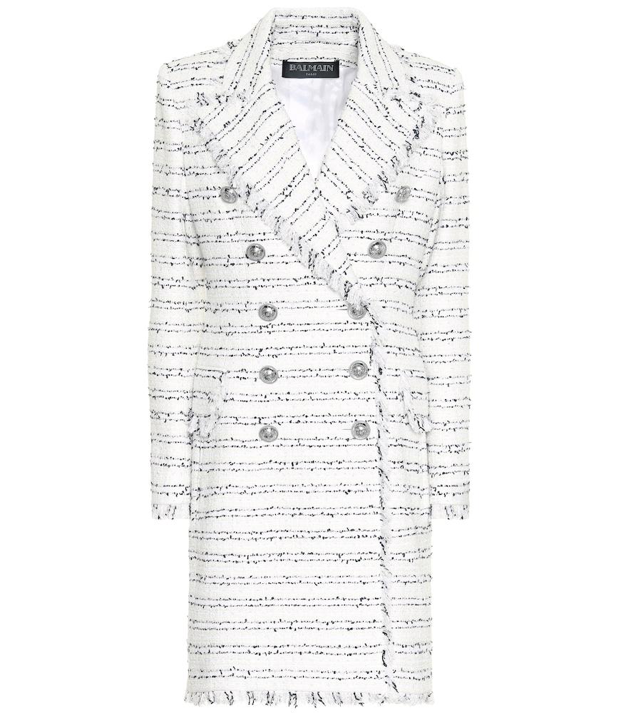 Tweed coat by Balmain
