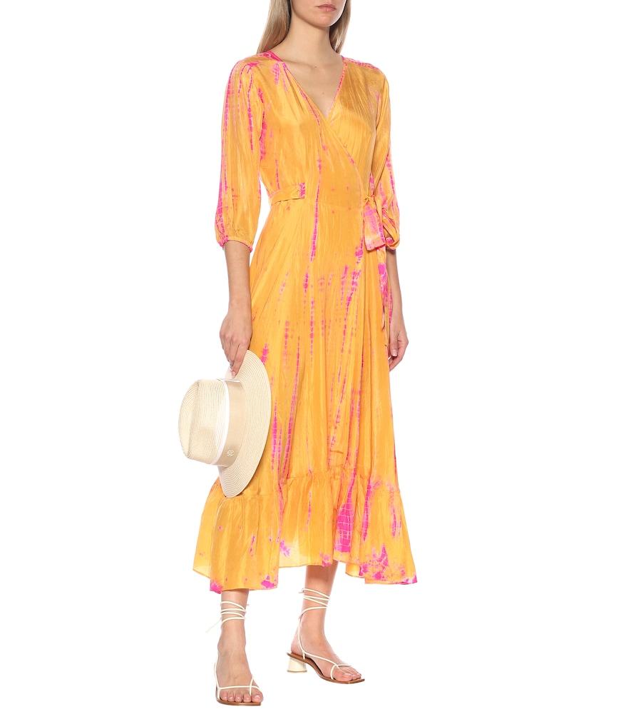 Exclusive to Mytheresa - Tie-dye silk midi dress by Anna Kosturova