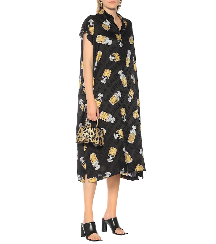 Printed silk jacquard midi dress by Balenciaga