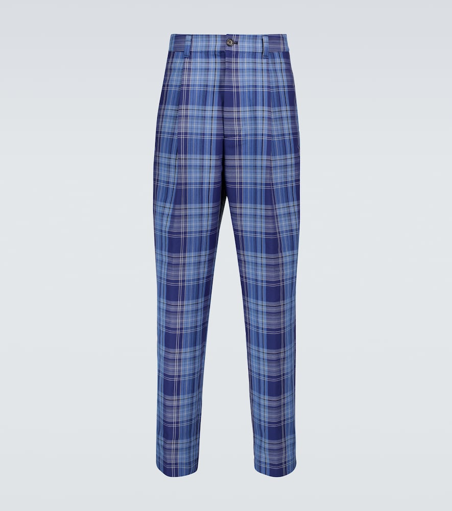 Acne Studios PINO WIDE-LEG CHECKED PANTS