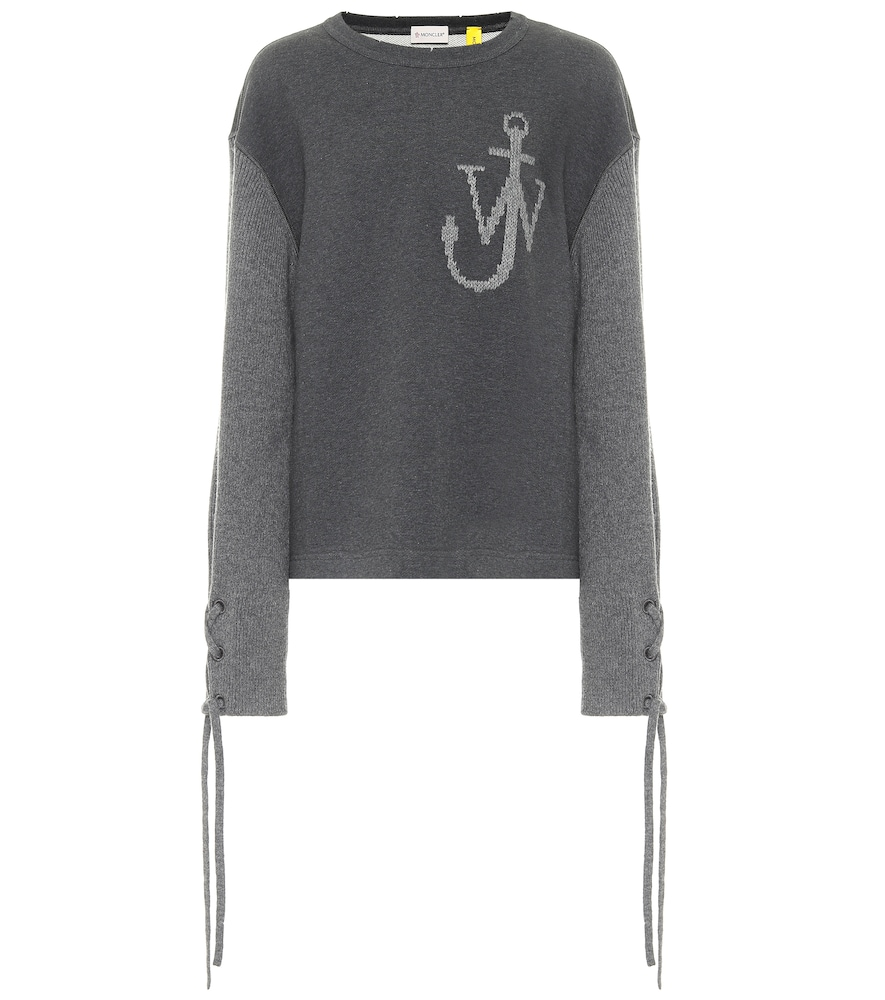 Moncler Genius Cottons 1 MONCLER JW ANDERSON COTTON AND WOOL SWEATSHIRT