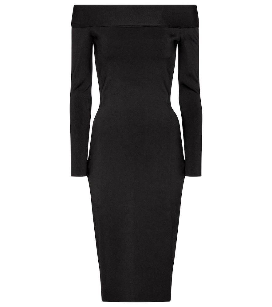 Stretch-knit off-shoulder dress by Victoria Beckham