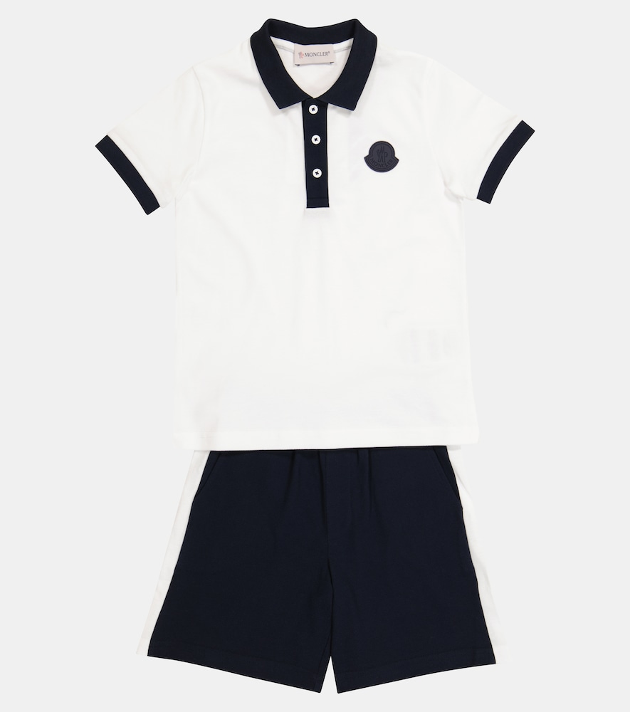 MONCLER Cottons COTTON POLO SHIRT AND SHORTS SET